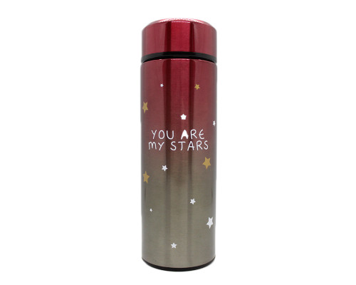 Термос 350ml, My cup, You are my stars, red
