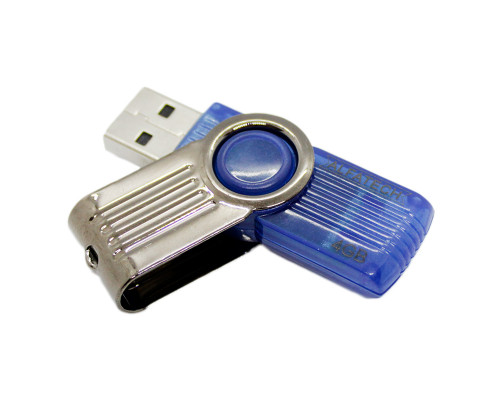 Флэш-карта 4 Gb, ALFATECH, blue metal